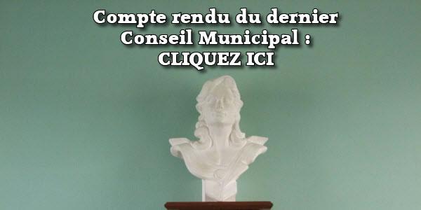 Compte rendu du dernier Conseil Municipal