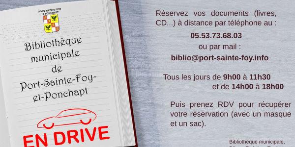 Covid-19 : Biblio-drive